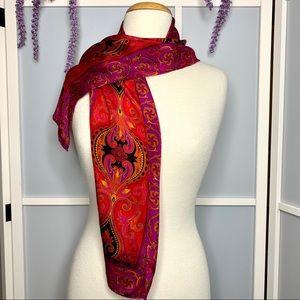 Vintage Liz Claiborne Silk Scarf vibrant colours